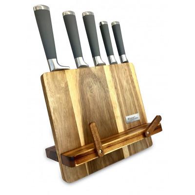 Noże w bloku z drewna akacjowego 93306