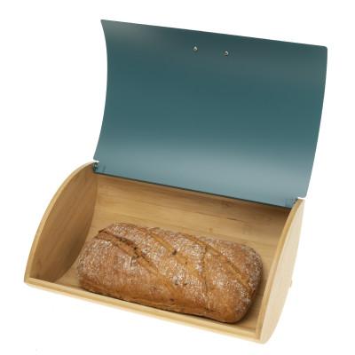Chlebak stalowy turkusowy 93511