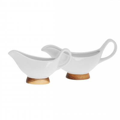 Zestaw porcelanowych sosjerek