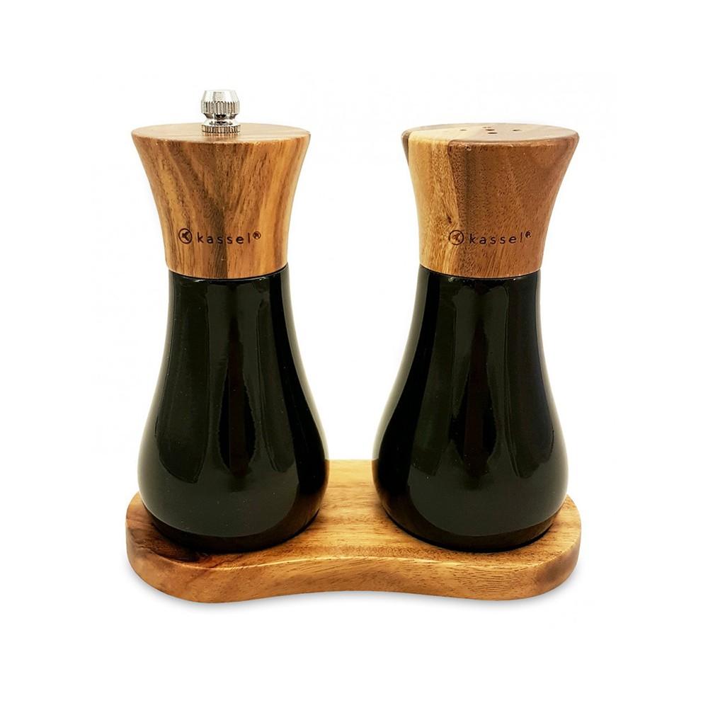 Zestaw młynek i solniczka z drewna akacjowego 93574